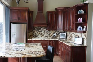 Full kitchen - marble countertop and backsplash